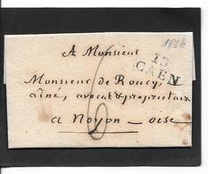 1826 CAEN - Storia Postale