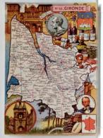 CARTE GEOGRAPHIQUE PINCHON N° 33 - GIRONDE - BLONDEL LA ROUGERY 1945 - Unclassified