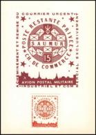 0043/ France Grève De Saumur 1953 Carte Lettre (cover Card) Carte Avion Postal Militaire + Essai (proof) Non Dentelé - Strike Stamps