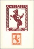 0042/ France Grève De Saumur 1953 Carte Lettre (cover Card) Carte Cheval (horse) + Essai (proof) - Strike Stamps