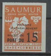 0023/ France Grève De Saumur 1953 Essai (proof) Non Dentelé (imperforate) Neuf - Strike Stamps