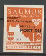 0020/ France Grève De Saumur 1953 Essai (proof) Non Dentelé (imperforate) Neuf - Strike Stamps