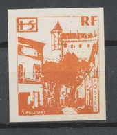 0018/ France Grève De Saumur 1953 Essai (proof) Non Dentelé (imperforate) Neuf - Strike Stamps