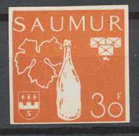 0015/ France Grève De Saumur 1953 Essai (proof) Non Dentelé (imperforate) Neuf - Strike Stamps