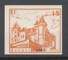 0011/ France Grève De Saumur 1953 Essai (proof) Non Dentelé (imperforate) Neuf - Strike Stamps