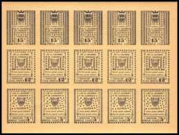0003/ France Grève De Saumur 1953 Feuille Complète (full Sheet) Neuf ** Jaune Cote 375 - Strike Stamps