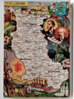 CARTE GEOGRAPHIQUE PINCHON N° 42 - LOIRE - BLONDEL LA ROUGERY 1946 - Unclassified