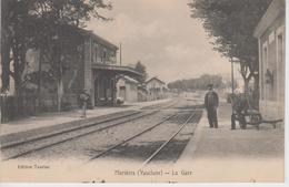 CPA Morières - La Gare (avec Animation) - Morieres Les Avignon