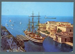°°° Cartolina - Taranto Nave Scuola Vespucci Al Passaggio Del Canale Navigabile Viaggiata °°° - Taranto