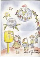 Joyeux Noel - Une Carte Pour La Guadeloupe - - Santa Claus