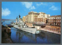 °°° Cartolina - Taranto Nave Vittorio Veneto Al Passaggio Del Canale Navigabile Viaggiata °°° - Taranto