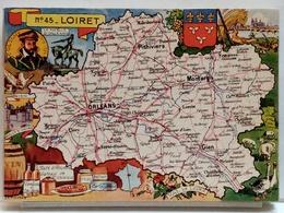 CARTE GEOGRAPHIQUE PINCHON N° 45 - LOIRET - BLONDEL LA ROUGERY 1945 - Unclassified
