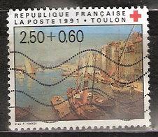 Timbre France Y&T N°2733 (01) Obl. Toulon. 2 F. 50 + 60c. Multicolore. Cote 1.30 € - France