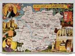 CARTE GEOGRAPHIQUE PINCHON N° 47 - LOT ET GARONNE - BLONDEL LA ROUGERY 1946 - Non Classificati