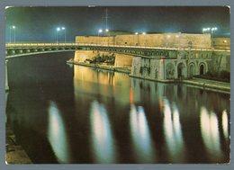 °°° Cartolina - Taranto Ponte Girevole Di Notte Viaggiata °°° - Taranto