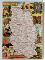 CARTE GEOGRAPHIQUE PINCHON N° 55 - MEUSE - BLONDEL LA ROUGERY 1946 - Unclassified
