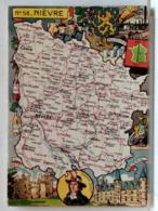 CARTE GEOGRAPHIQUE PINCHON N° 58 - NIEVRE - BLONDEL LA ROUGERY 1946 - Unclassified