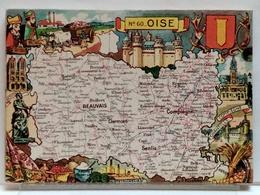 CARTE GEOGRAPHIQUE PINCHON N° 60 - OISE - BLONDEL LA ROUGERY 1946 - Unclassified