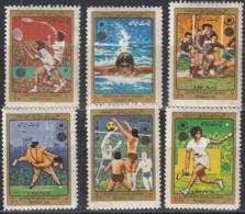 IRAN  1715-1720, Postfrisch **, Asiatische Sportspiele, Teheran, 1974 - Iran
