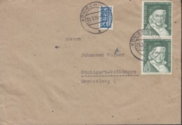 BRD 204 MeF Auf Brief, Mit Stempel: Königswinter 23.3.1955 - BRD