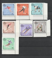 Mongolia 1967 10th Winter Olympic Games 7v  MNH - Mongolei