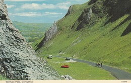 Postcard Winnats Pass Derbyshire Red Austin Mini In Foreground My Ref  B13985 - Derbyshire