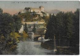 ! - France - Lourdes - Le Château Fort Et Le Gave - 2 Scans - Lourdes