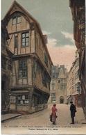 ! - France - Rouen - Rue Saint-Romain - Passage De La Cour Des Comptes - Vieilles Maisons Du XVè Siècle - 2 Scans - Rouen