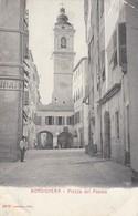 BORDIGHERA-VENTIMIGLIA-PIAZZA DEL POPOLO-CARTOLINA NON VIAGGIATA-ANNO 1900-1904 - Imperia