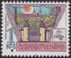 Specimen, Czechoslovakia Sc2701 PRAGA 88, Museum Of National Literature, Exposition Philatélique - Esposizioni Filateliche