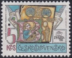 Specimen, Czechoslovakia Sc2703 PRAGA 88, Museum Of National Literature, Exposition Philatélique - Esposizioni Filateliche