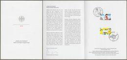 """Bund : Minister Card - Ministerkarte Typ VII , Mi-Nr. 3506-07 ESST: """" - Heidi Und Pippi Langstrumpf - """"      X - Storia Postale"""