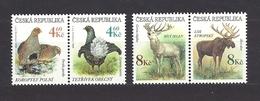 Czech Republic 1998 MNH ** Mi 178-181 Sc 3042-3045 Gefährdete Tierwelt. Tschechische Republik. A - Czech Republic