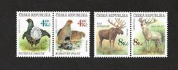 Czech Republic 1998 MNH ** Mi 178-181 Sc 3042-3045 Gefährdete Tierwelt. Tschechische Republik. B - Czech Republic