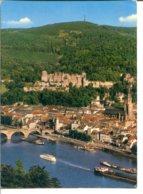 Allemagne - HEIDELBERG - Vue Du Chemin Des Philosophes - Péniches Sur Le Neckar - Heidelberg