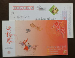 Children Paying Kites,China 2006 Jiangsu Telecom Industry Group Advertising Pre-stamped Card - Childhood & Youth