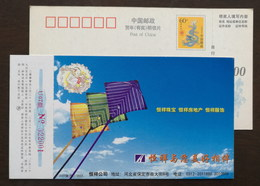 Kites In The Sky,China 2000 Hengxiang Jewelry Real Estate Clothing Group Advertising Pre-stamped Card - Childhood & Youth