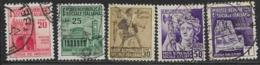 Italy Social Republic Scott # 24-7,29 Used Various Subjects, 1944 - Used