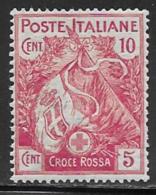 Italy Scott # B1 Mint Hinged Semi Postal Flag, Red Cross, 1915 - 1900-44 Vittorio Emanuele III