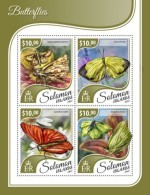 SOLOMON ISLANDS 2017 Butterflies - Solomon Islands (1978-...)