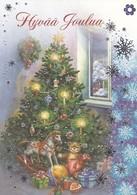 Postal Stationery - Bird - Bullfinch - Christmas Tree - Cancer Foundation - Suomi Finland - Postage Pa - Finlandia