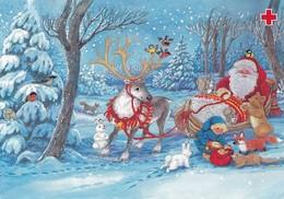 Postal Stationery - Birds - Santa Reindeer - Forest Animals - Red Cross 1994 - Suomi Finland - Postage Paid - Pitkäranta - Finland