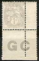 N°107 ** (gris) Avec Manchette GC (papier Blanc) ! - Francia