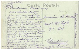 MILITARIA MEDENINE TUNISIE 1921 - 4EME REGIMENT DE TIRAILLEURS TUNISIENS POUR STRASBOUG 401EME REGIMENT D INFANTERIE... - Documents