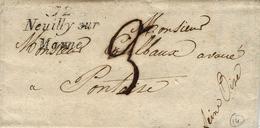 1836- Cursive  72 /  Neuilly Sur Marne ( Seine St Denis )  Pour Pontoise - Storia Postale