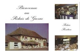 THEME HOTEL ET RESTAURANT - RELAIS DE GROSNE NORBERT ET JACQUELINE A SAINT CYR SAONE ET LOIRE, EDITION LITHOLOR TECNICOM - Hotels & Restaurants