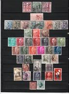41 TIMBRES ESPAGNE OBLITERES & NEUFS** & * + SANS GOMME  DE 1937 à 1966      Cote : 10,40 € - 1931-50 Used