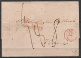 """LSC (sans Texte) Datée 26 Novembre 1847 De MADERE Pour LE HAVRE - Càd """"ANGL./18 DEC 1847/ CALAIS"""" & Griffe Rect [COLONIE - 1849-1876: Période Classique"""