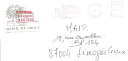 87 Haute Vienne Flamme Sur Lettre EMA 2005 Mairie DROUX - 950 - Marcophilie (Lettres)