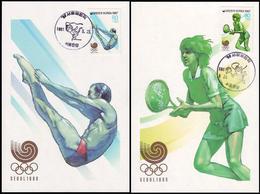 Korea - 1987 - Olympic Games 1988  - Card Maximum - Estate 1988: Seul